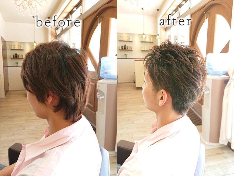 大野城市下大利の美容室フォス Men's before&afterその1