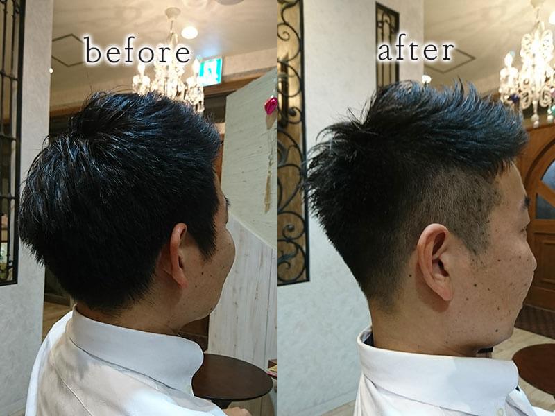 大野城市下大利の美容室フォス Men's before&afterその2